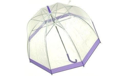 Зонт Прозрачный купол сиреневый
