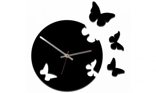 Часы Бабочки черный