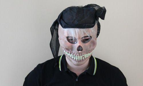 Маска Скелет в бандане