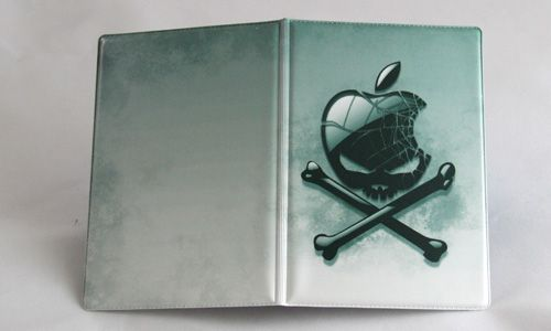 """Обложка для паспорта """"Apple в виде черепа"""""""