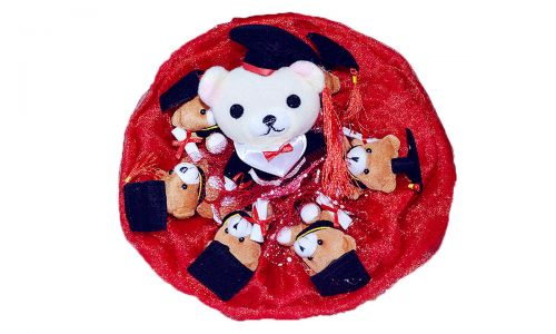 Букет из мягких игрушек 7 медвежат (арт.B291)