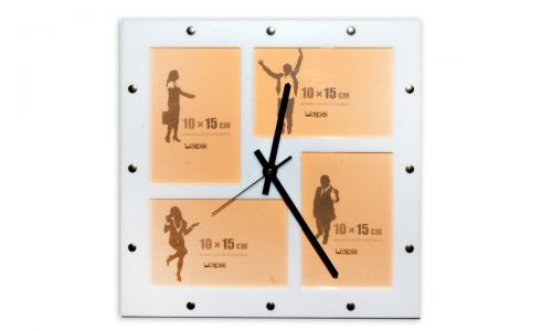 Часы-фоторамки Добрая память белый