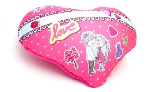 Декоративная подушка в форме сердца Купидон