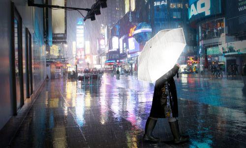 Светоотражающий зонт