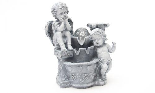 Настольный фонтан с подсветкой Ангелочки