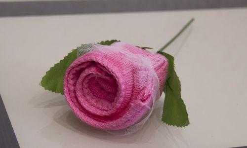 "Подарочное полотенце ""Роза"""