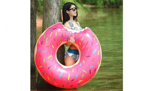 """Надувной круг """"Пончик"""", красный от 1 050 руб"""