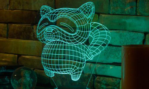 """Енот"" 3D-светильник от 1 390 руб"