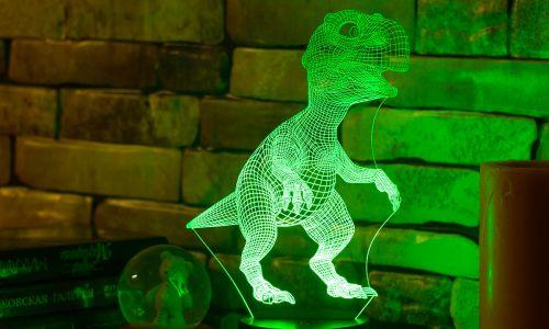 """""""Динозавр"""" 3D-светильник от 1 390 руб"""