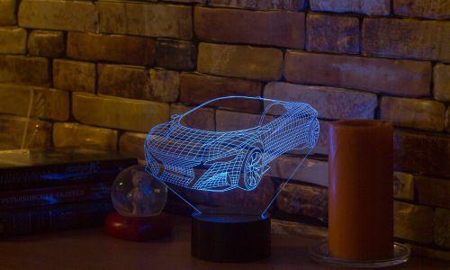 """""""Автомобиль"""" 3D-светильник от 1 390 руб"""