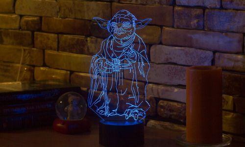 """""""Йода"""" 3D-светильник от 1 390 руб"""
