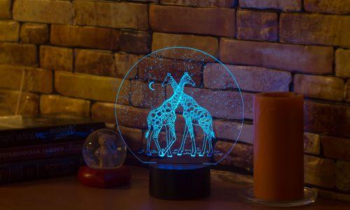 """""""Жирафы"""" 3D-светильник от 1 390 руб"""
