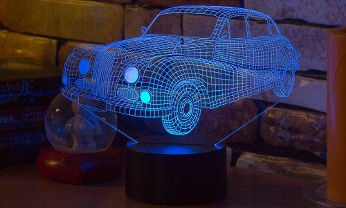 """""""Ретро-автомобиль"""" 3D-светильник от 1 390 руб"""